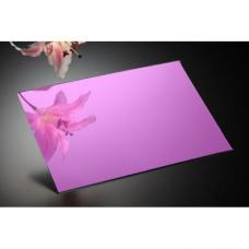 Plexiglas oglinda roz, grosime 3 mm